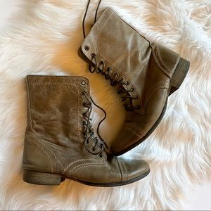Steve Madden Troopa Boots Gray